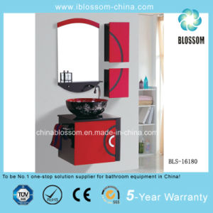 Christmas Red Wall-Hung PVC Bathroom Cabinet, Vanity with CE (BLS-16180) pictures & photos