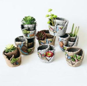 sweet house plant holders. Creative Mini Plants Pot Flower Succulent DIY Container Decorated  with Hanging Fairy Garden and Sweet House China