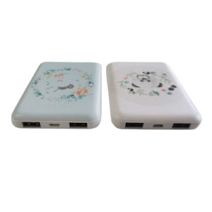 Slender Power Bank Wholesale 5000mAh Power Supply with UV printing Customized Logo