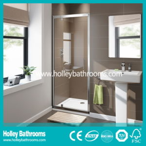 Aluminium Shower Hinged Screen with Tempered Laminated Glass (SE917C)