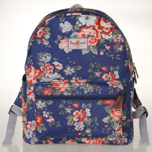 Waterproof Canvas Blue Large Size Backpack Bag (23180)