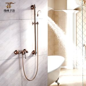 8 Antique Brass Tub Spout Rain Shower Head Faucet Hand Shower Mixer