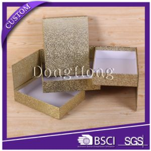 Luxury Glitter Paper Tower Gift Box for Chocolate Packaging