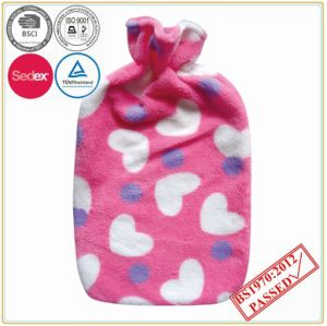 Pink Heart Design Coral Fleece Cover pictures & photos
