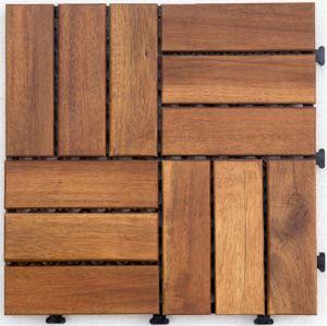 China Diy Solid Wood Decking Tile Flooring Garden Furniture Acacia