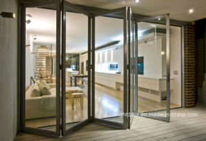 Exterior Strong Double Glazing Aluminum Bi Folding Door pictures & photos