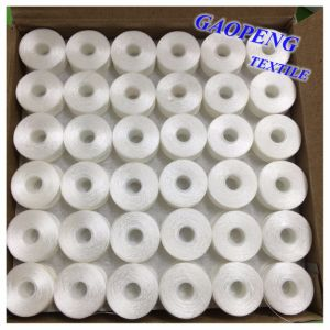 100% Polyester White Pre-Wound Bobbins Thread for Sewing pictures & photos