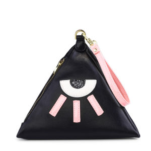 New Famous Embroidery Eye Women Purse and Girls Wristlet Bag