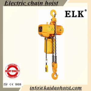 2ton Double Speed Single Chain Fixed Type Electric Chain Hoist Crane pictures & photos