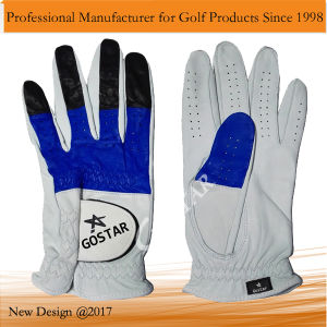 Mixed Color Cabretta Golf Glove pictures & photos