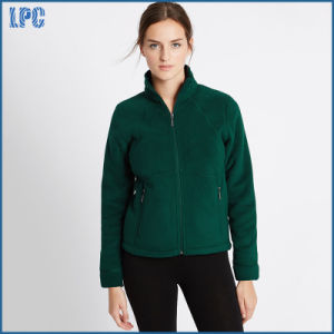 Single Color Fleece Jacket Made of Fujian for Women pictures & photos