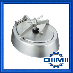 Stainless Steel Sanitary Inward Opening Elliptical Manway on Tank pictures & photos