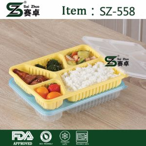 4compartment Disposable Plastic Food Container with Lid pictures & photos