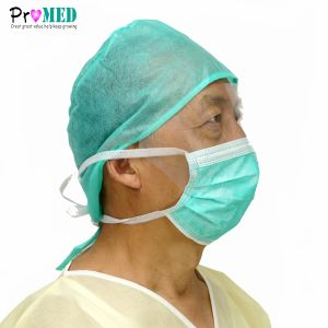 Disposable Nonwoven Surgical Face Mask With Eyeshield, Anti-fog Eyeglass Mask, Splash Proof Mask, Face Mask With Shield