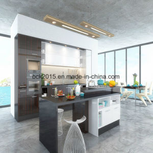 China Best Sale High End Mdf Kitchen Cabinet With Uv Paint Veneered