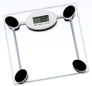 Glass Digital Bathroom Scale Body Weight Diet Clear Fat Fitness Floor  Exercise X