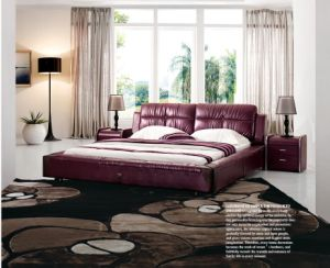 2014 Hot Selling Modern Soft Italian Leather Bed 679#