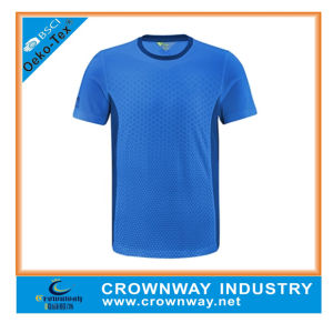 Mens Dri Fit Blue Running Sports Shirts with Sublimation Printing pictures & photos