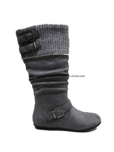 Comfort Lady Fashion Flat Heel Middle Boots for Leisure