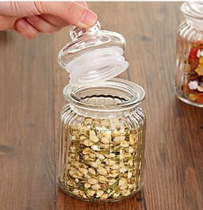Ribbed Kitchenware Coffee Sugar Tea Storage Glass Canister pictures & photos