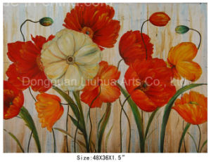 Canvas Wall Art Decorative Palette Knife Flower Painting (LH-700436) pictures & photos