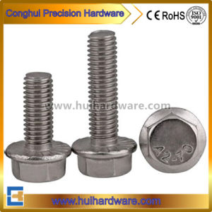 Stainless Steel A2 A4 M16 Hexagonl Serrated Flange Bolt pictures & photos
