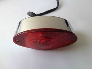 EEC Chrome Red LED Tail Lights for Scooter