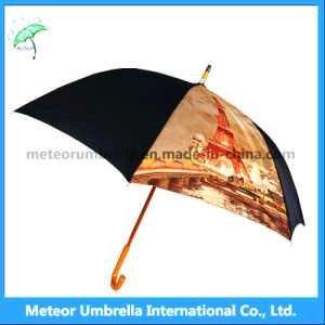 Fashion Personalized Windproof Travel Black Umbrella