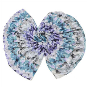 Flower Fashion Voile Polyester Scarf (UD91102)