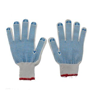 Safety PVC Dotted Work Gloves pictures & photos