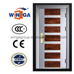 5star Building Good Quality Outside Security Iron Steel Door (W-S-13) pictures & photos