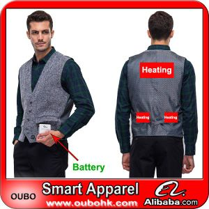 Battery Heated Clothing >> Men S Waistcoat With High Tech Electric Heating System Battery Heated Clothing Warm Oubohk