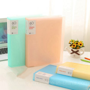 New Design Transparent Colorful Clear Book, High Quality File Collect