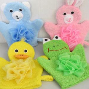 Soft Babies Bath Brushes Towels Cartoon Infant Animal Shower Gloves Massage