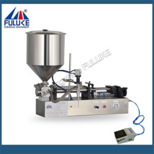 Fuluke Fgj Semi-Automatic Double Head Pneumatic Horizontal Liquid Filling Machine pictures & photos