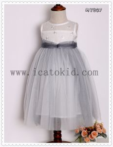 China Long Baby Frock Designs Wedding Dress Party Girls Dress For