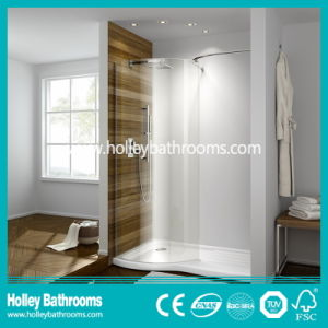 Aluminium Walk-in Shower Enclosure with Tempered Laminated Glass (SE924C)
