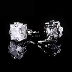 Men Jewelry VAGULA Crystal Cuff Links Gemelos 501 pictures & photos
