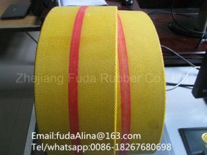 Flat Transmission Belt Yello Color pictures & photos