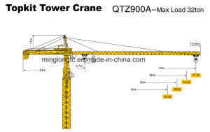 Qtz900A Construction Tower Crane-32t pictures & photos