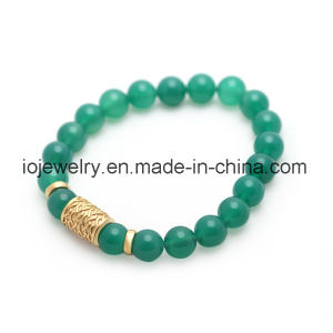 Gemstone Jewelry Agate Bracelet with Metal Charms pictures & photos