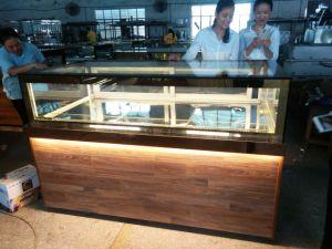 Wooden Cake Showcase Display Chocolate Showcase