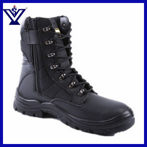 Black Leather Safety Military Boot for Man (SYSG-201858) pictures & photos