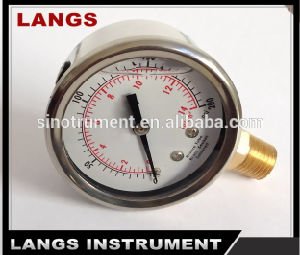 016 Brass Internal Liquid Filled Pressure Gauge pictures & photos