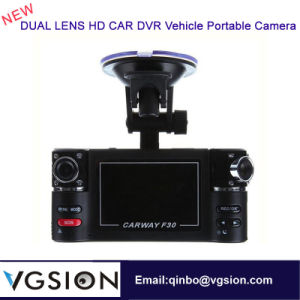 2.7 Inch Dual Lens Car DVR 1080P HD Night Vision Motion Detection Vehicle Recorder F30 Vehicle Portable Camera HD Car DVR
