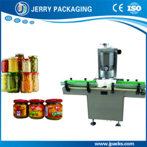 Factory Supply Peanut Butter/ Vegetable / Fruit Sauce Vacuumize Capping Machine pictures & photos