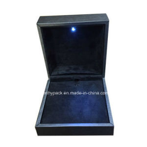 Customized Wooden LED Light Jewelry Gift Box for Storage Jewelries