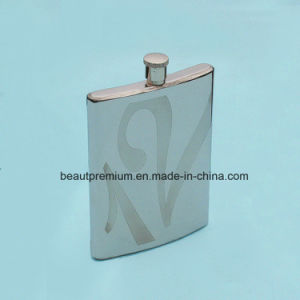 Fashion Portable Stainless Steel Hip Flask with Customized Logo BPS0179