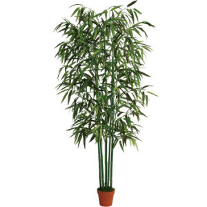 Natural Trunk Artificial Bamboo Plants with Plastic Pot