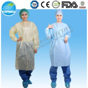 Disposable Visitor Gown/ Isolation Gown with Knitted Cuffs pictures & photos